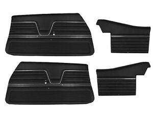 1969 Chevelle Convertible Door Panels Front And Rear Set In Black J 6660