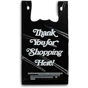 Shopping Merchandise Bags Large Plastic Black 350 Count Extra Heavy Duty 1 6