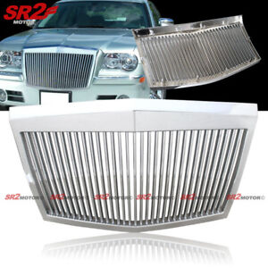 Chrome Vertical Bumper Hood Front Grill Grille Fits 2005 20010 Chrysler 300c