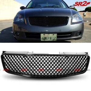 Abs Black Front Grille Grill Honeycomb Mesh Style Fits 2005 2006 Nissan Altima