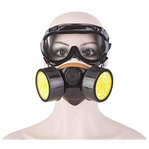 Safety Masks Industrial Gas Chemical Anti dust Paint Respirator Goggles Set