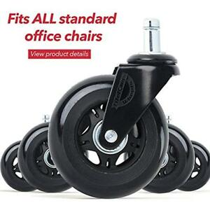 Casters Office Chair Wheels Set Of 5 Caster Universal Fit