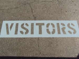 12 Visitors Parking Lot Stencil 1 16 063 Ldpe Big Edges Easy To Read