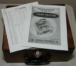 Superior Instruments Tube Tester Working