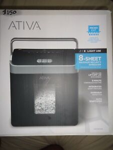 Ativa Micro Cut 8 Sheet Maximum Security Shredder New