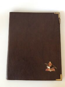 Vintage Anheuser busch Logo Padfolio Notepad Leather Legal Pad