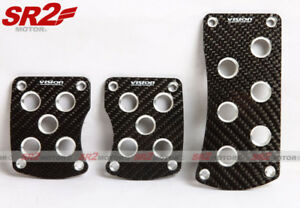 Universal Carbon Fiber Aluminum Manual Transmission M t Racing Pedal Pad Cover