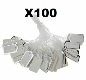 X100 Silver Label Tie String Jewelry Clothing Watch Tickets Display Price Tags