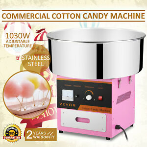 Cotton Candy Machine Floss Maker Stainless Steel 1030w Pink Party Snacks