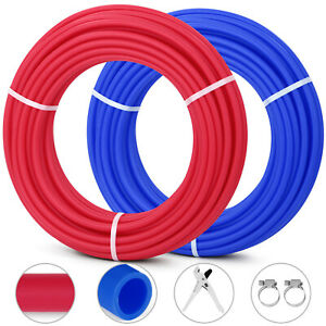 200 1 2 Oxygen Barrier Pex Tubing 100 Red And 100 Blue Water Plumbing Best