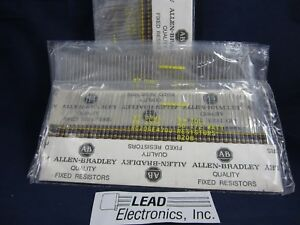 303 Pcs Mixed Lot Allen Bradley Carbon Comp 1 2 watt Carbon Comp