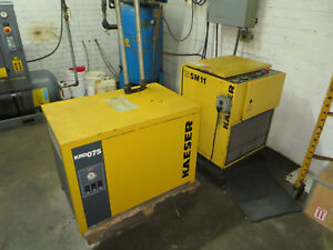 Kaeser Air Compressor Model Sm11 With Krd 075 Air Chiller Dryer Air