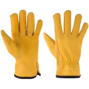 Suse s Kinder Premium Kid s Leather Work Gloves Top Grain Cowhide