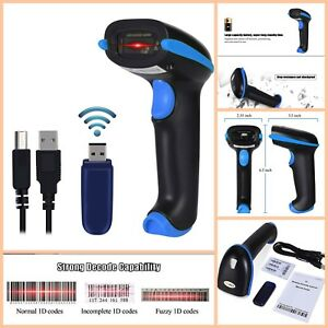 Wireless Barcode Scanner Portable Wired Barcode Reader With Usb Receiver Cable