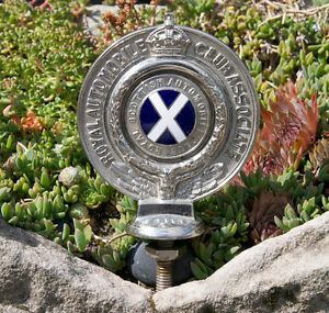 Vintage Automobile Hood Ornament Mascot Scottish Royal Automobile Club