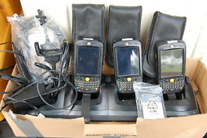 Bulk Lot Motorola 2 Mc55a0 Symbol Barcode Scanners Charger Working