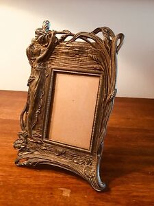 Antique 9015 Judd Bronze Hawaiian Motif Mirror Converted To Frame