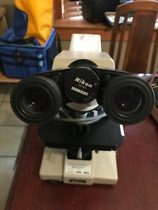 Nikon Labophot Microscope No Case Or Extra Parts