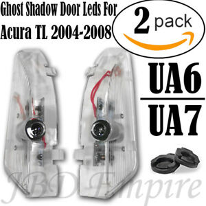For Acura Tl 2004 2008 Led Laser Door Logo Ghost Shadow Projector Lights Ua6 Ua7