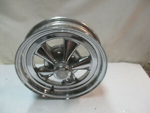 Cragar S s Chrome Mag Wheel Rim 15x4 Skinny Front Runner Single Chevy Gm J14404