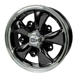 Gt 5 Wheel Black With Polished Lip 5 5 Wide 5 On 205mm Dunebuggy Vw