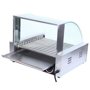 Commercial 11 Roller 30 Hot Dogs Grill Cooker Warmer Hot Dog Grill Machine