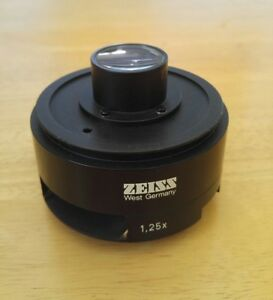Zeiss Intermediate Tube Magnifier Optovar 1 25x Fixed Universal Pm3