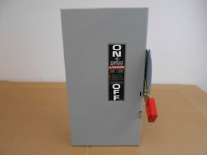 New Ge General Electric Thn3362 Hd Safety Switch 60 Amp 600v 3p Non fused Nema 1