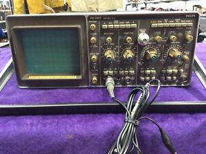 Vintage Faa Philips 100 Mhz Dual Channel Bench Cb Oscilloscope Pm3267 Tested