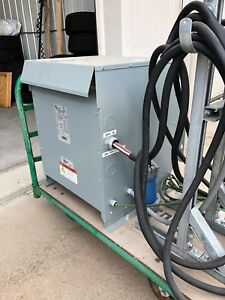 Portable 30 Kva Step Up Transformer System Converts 208y Vac To 480v Three Phase