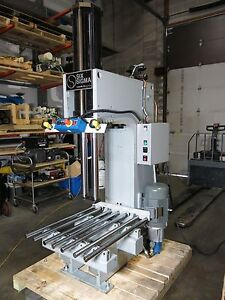 18 8 Ton Hydraulic C frame Press 26 5 Long Stroke Roll On Table Sharp