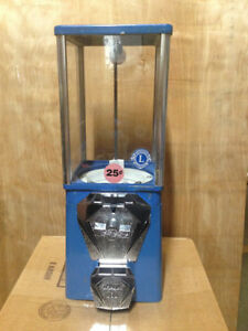 Blue Oak Vista Candy Toy Gumball Vending Machine New Chrome Coin Mech And Door