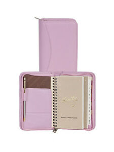 Scully Leather Soft Lamb Zip Pocket Planner Pink 5008z 01 36 f