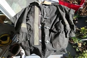 Vintage Black Body Guard Firefighter s Jacket Fireman s Coat
