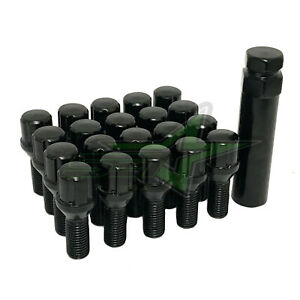 20 Black Jeep Spline Lug Bolts 12x1 25 Security Key Renegade Cherokee Compass