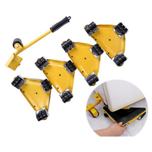 5pcs set Furniture Lifter Furniture Mover Dolly Trolley Transport Removal Set