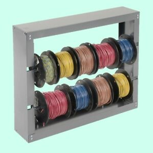 Work Shop Wire Spool Storage Rack Wall Mount Welded Cold Rolled Steel Vehicle