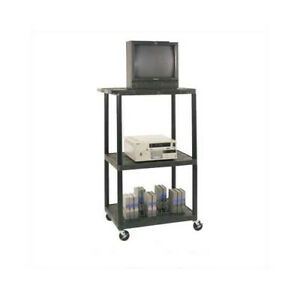 Luxor High Low Priced Table Av Cart With Locking Cabinet big Wheels