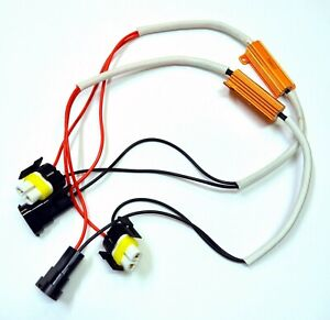 Wire Hid Resistor Canceler Error Decoder S H11 Fog Light Stop Flicker Harness