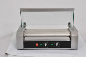 Commercial 33 Grilled Hot Dogs Machine Stainless Steel Party 11 Roller Grill Us