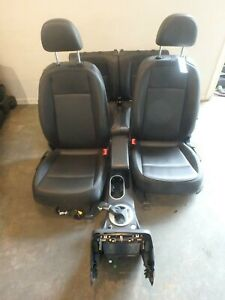 2012 2016 Volkswagen Beetle Black Leather Front Rear Seats W console Driver