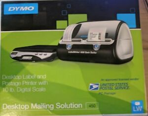 Dymo Desktop Mailing Solution 450 Label And Postage Printer W 10 Lb Scale