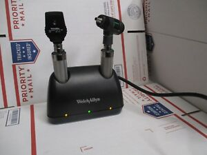 Welch Allyn 3 5v Diagnostic Set With Desk Charger Ophthalmoscope And Otoscope