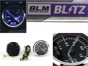 Blitz Blm Carbon Face Black Light 60mm Turbo Pressure Gauge Jdm