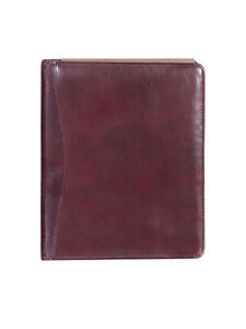Scully Italian Leather 3 Ring Binder Burgundy 5046 06 22 f