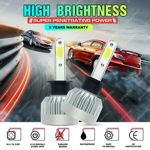H1 1855w 278250lm White Cree Led Car Headlight High Low Beam Conversion Bulbs 6k