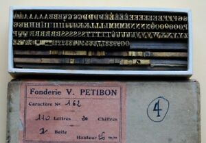 Antique Bookbinding Brass Type french 3 Sets Finishing Tools