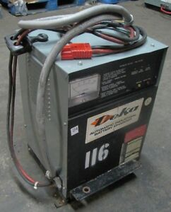 Deka 24v Electric Forklift Battery Charger 450ah 8hr 208 240 480 1ph 12 Cell