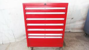 V Lista 7 Drawer Tool Box Roll Away Parts Cabinet Tooling Storage Snap on