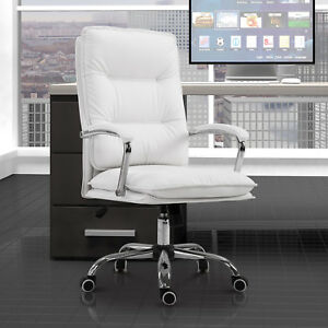 High Back Executive Home Office Chair Computer Task Seat Lumbar Support White